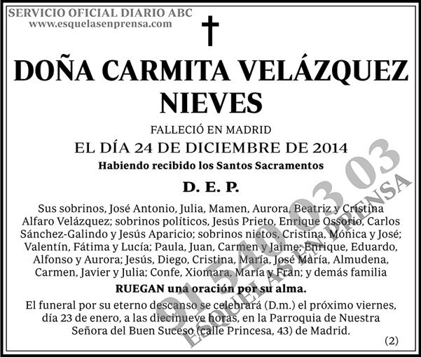 Carmita Velázquez Nieves